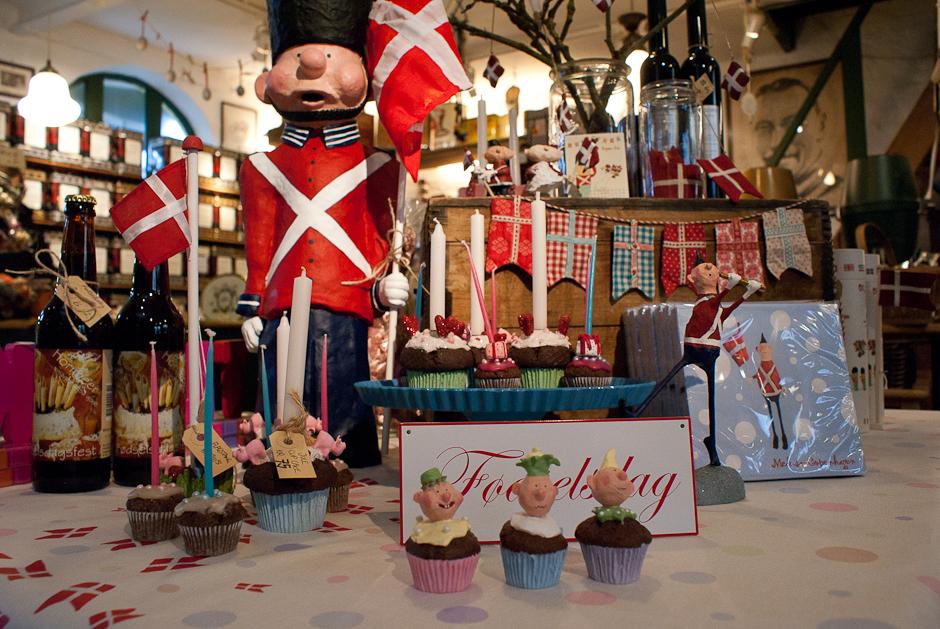 Det store fødselsdagsbord i butikken