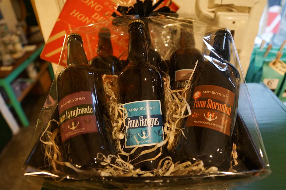 Gavekurv med øl fra Fanø Bryghus
