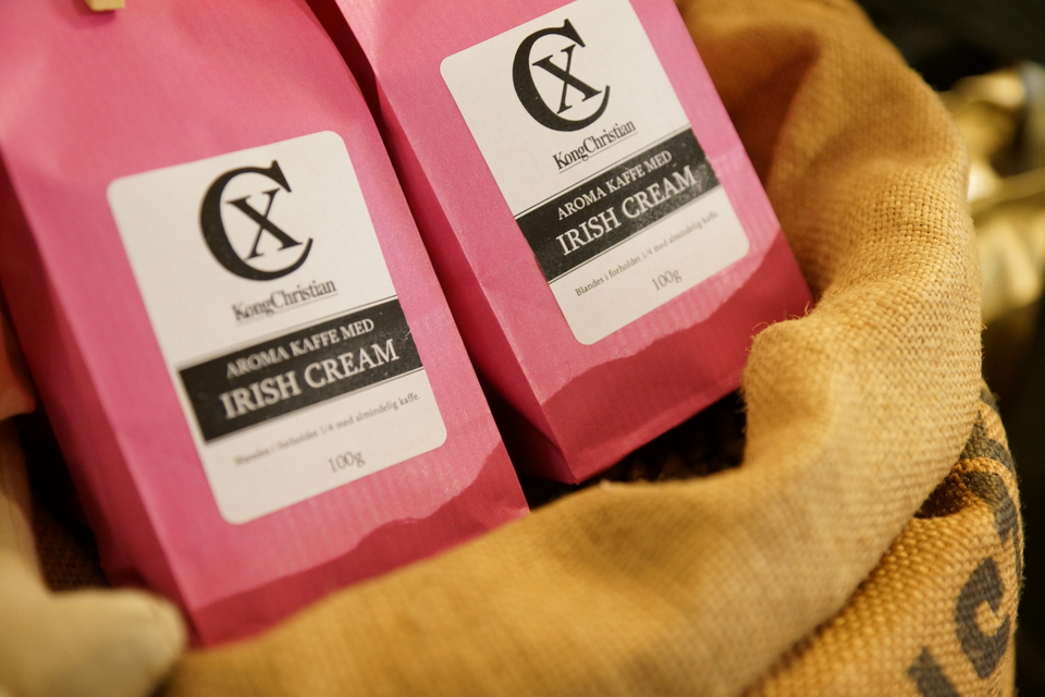 Aromakaffe med irish cream smag