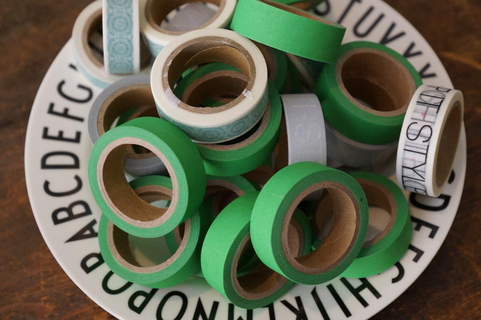 Masking-tape i forskellige farver og mønstre